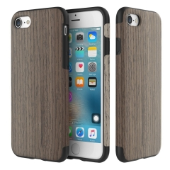 iPhone 7 Plus Case,Soft,Hybrid [Natural Wood and TPU Rubber] Protective Wooden Case BkRoseWd one size