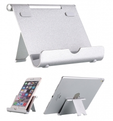 Multi-Angle metal Tablet Stand,Smartphone holder silver one size