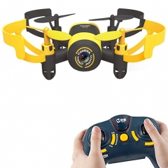 Mini RC Quadcopter Drone,Helicopter Headless Mode UFO With 0.3MP Camera WiFi FPV Yellow one size