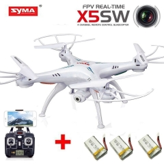 Headless Remote Controlled FPV Quadcopter Drone with 0.3MP HD Wifi Camera white one size