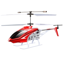 Mini RC Helicopter 2.4G 3 Channel Airplane Alloy Model Gift Red one size