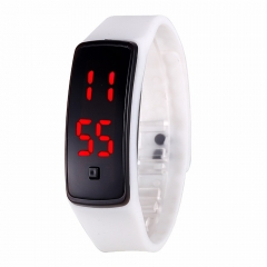LED Digital Bracelet Watch Sport Silicone Strap Wristwatch for Men Women Children Gift Smart watch White 170mm-288mm