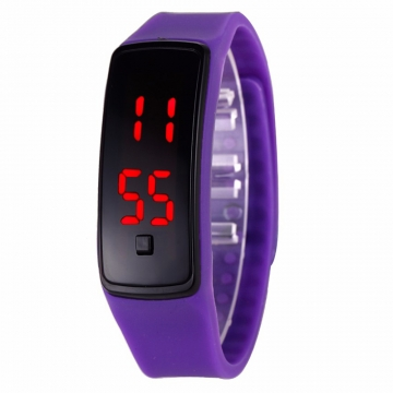 LED Digital Bracelet Watch Sport Silicone Strap Wristwatch for Men Women Children Gift Smart watch Purple 170mm-288mm