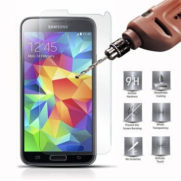 Tempered Glass Screen Protector Protective Film For Samsung Galaxy J7 HD Transparent 5.5 inch