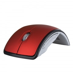 2.4GHz Foldable Wireless Arc Optical Mouse Mice with USB Receiver for PC Laptop Notebook Computer