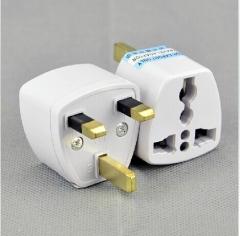 New UK KE Standard 3-foot Plug US/EU to UK AC Power Plug Travel Converter Adapter Plug White Converter Adapte