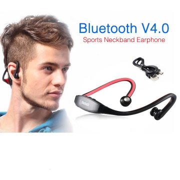 Sport Wireless Bluetooth 4.0 Earphone Headphone Headset Microphone In-ear Earbuds With Microphone black Stereo