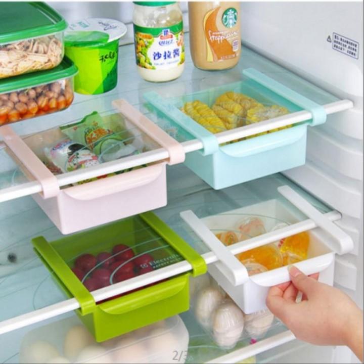 Refrigerator storage rack Pink