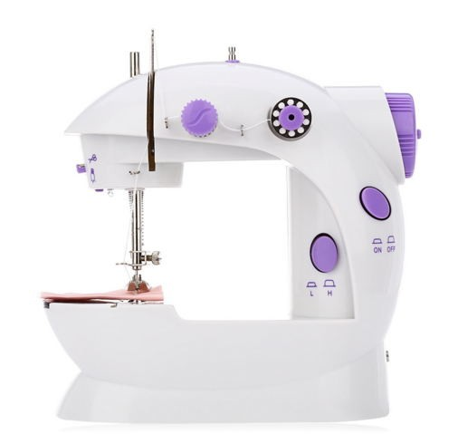 Mini Handheld sewing machines Dual Speed Double Thread Multifunction  Automatic Tread Rewind white as picture