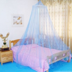 Jumbo Hanging Circular Screen Netting Mosquito Net with Tear Resistant Loop for Bed Queen Size Blue blue 2m