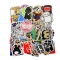 100pcs Waterproof Vinyl Stickers for PC, Car, Helmet, Skateboard, Luggage Graffiti Decals (Combo A) multi-color 6-12cm