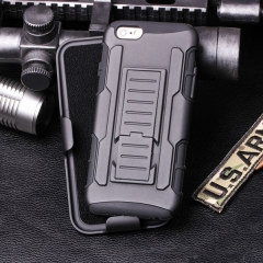 Black Rugged ShockProof Heavy Duty Armor Tough Hard Stand Case Cover for Samsung iPhone Black iphone 7