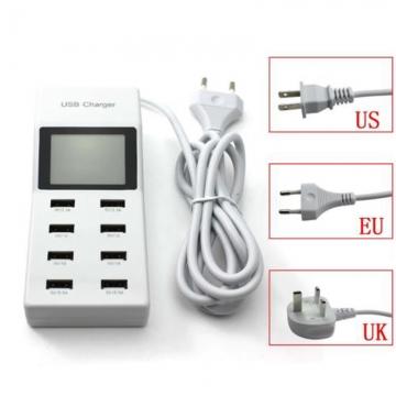 Universal Multi Port USB Hub Rapid Wall Travel Charger Power Adapter for Smartphone White US Plug