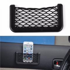 Car Accessories Car Storage Network with Strong Magic Tape for Mobile Phone/Cigarette/Lighter Black 14.5*7.5cm