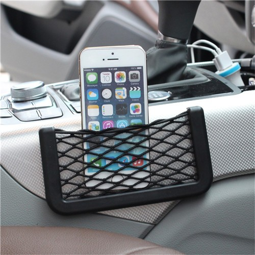 Car Accessories Car Storage Network with Strong Magic Tape for Mobile Phone/Cigarette/Lighter 2 in 1 14.5*7.5cm