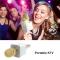 Wireless Karaoke Microphone Portable Bluetooth KTV Mic Speaker   USB Player Home KTV Gold 83*32*22mm