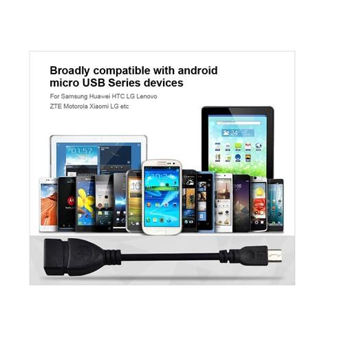 USB 2.0 A To MICRO B Cable Data Type-C Male to USB Female Cable OTG Host Adapter Converter Black 1.5*4.5*6.8cm