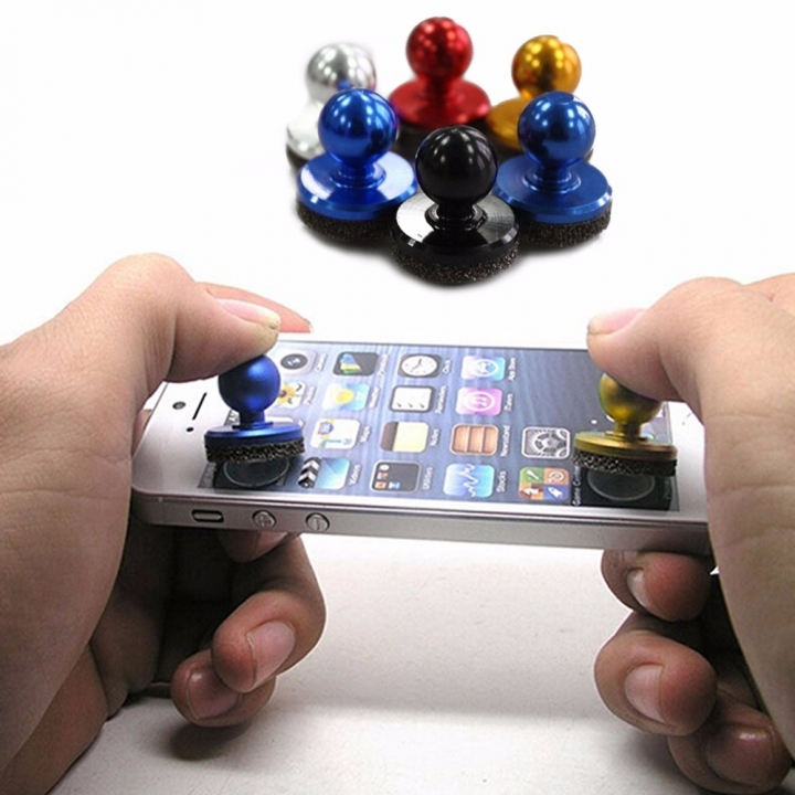 Mobile Phone Joystick Fling Mini Game Joystick for Phone Pad Touch Screen Mobile Phone Mini Rocker Random Color for Smartphone