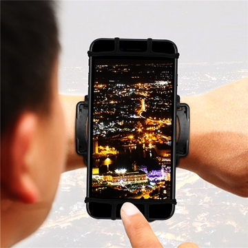 Sports Rotating Arm Bag 180 Degree Free Adjustment Wrist Bags For Cellphones Black for Phone