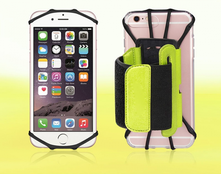 Sports Rotating Arm Bag 180 Degree Free Adjustment Wrist Bags For Cellphones Green for Phone