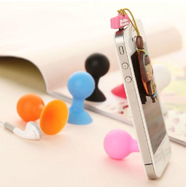Universal Mobile Phone Sucker Spherical Bracket Support Trestle Cell Phone Holder Stand Color Random for Phone