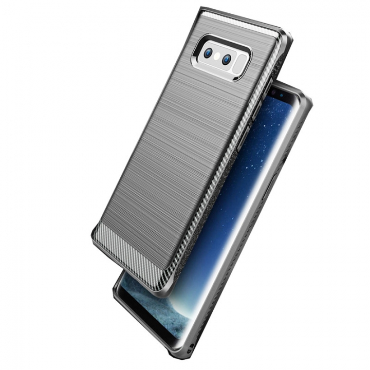 Hybrid TPU Protective Mobile Phone Cover Cases For Samsung Note 8 Silver for Samsung Note 8