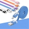 Micro Portable 2M USB Cable Metal Head Charging Data Cable For Android Mobile Phone Color Random