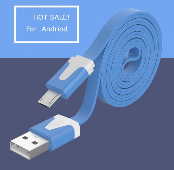 Universal USB Cable 1M Data Charging  USB Cable For Andriod Phone Color Random