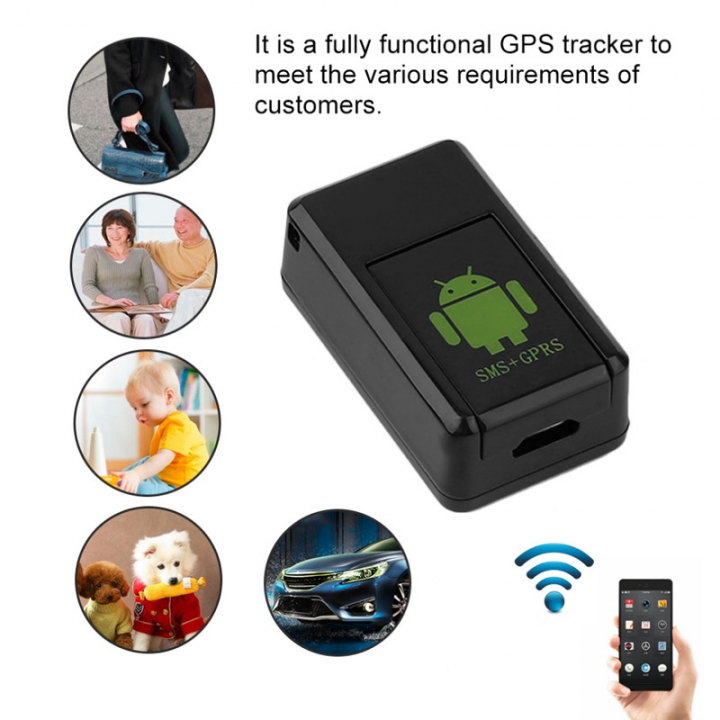 Mini Car GPS Locator Real Time Tracker GSM/ GPRS/GPS Network Tracker GSM Listening Device Adapter Black for Smartphone