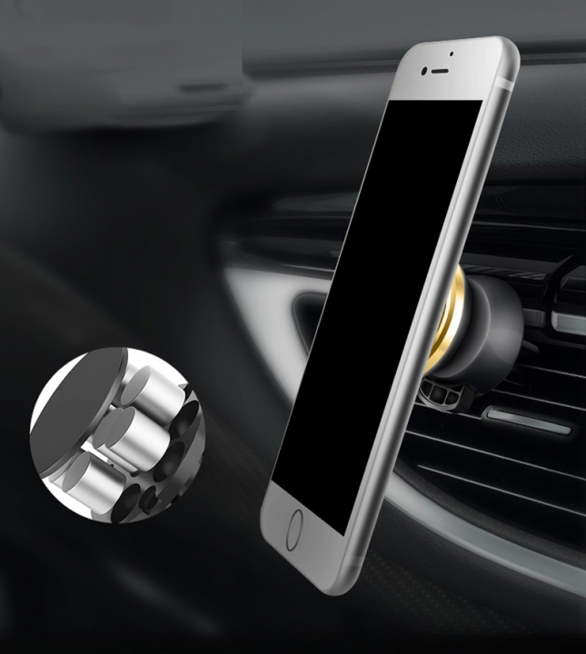 Universal Magnetic Car Phone Holder 360 Degree Rotatable Car Air Vent Outlet Mount for Phone Yellow for Phone