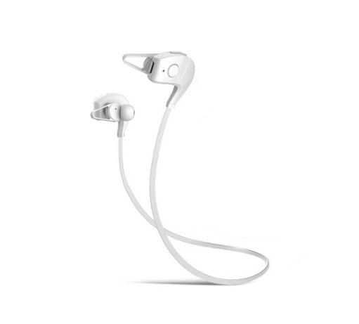 Bluetooth Earphone Sports Wireless Earphones Hand-free HD Stereo ATPX Bluetooth Running Headset White