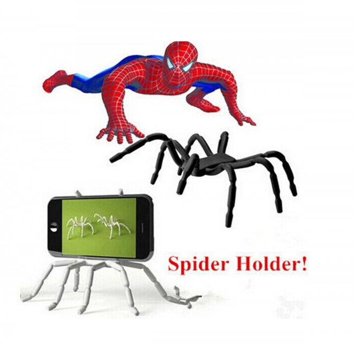 New Spider Flexible Grip Holder Stand Mount for iPhone SAMSUNG HTC Phone Black 1.5*4.5*6.8cm