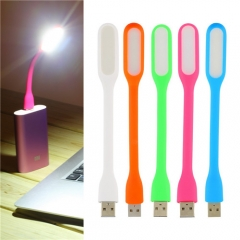 Mini High Bright LED Light USB Portable Flexible Lamp Eyes Protection Perfect for PC Tablet Phone Red 17*1.8cm