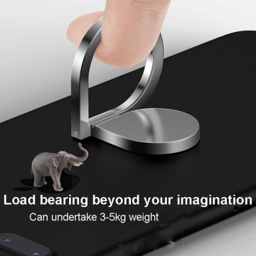Magic Finger Ring Holder 360 Rotating Bracket Stand for Cell Phone Universal Silver 1.5*4.5*6.8cm