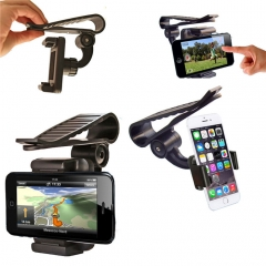 Car Phone Sun Visor Bracket Holder Foe iPhone 5 5S 6 6S 6S Plus 7 7S /Tablets/Andrio Mobile Phone black normal