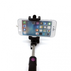 Universal Luxury Mini Monopod Selfie Stick for iphone Android iOS Mobile Phones Wired Selfie rose red normal