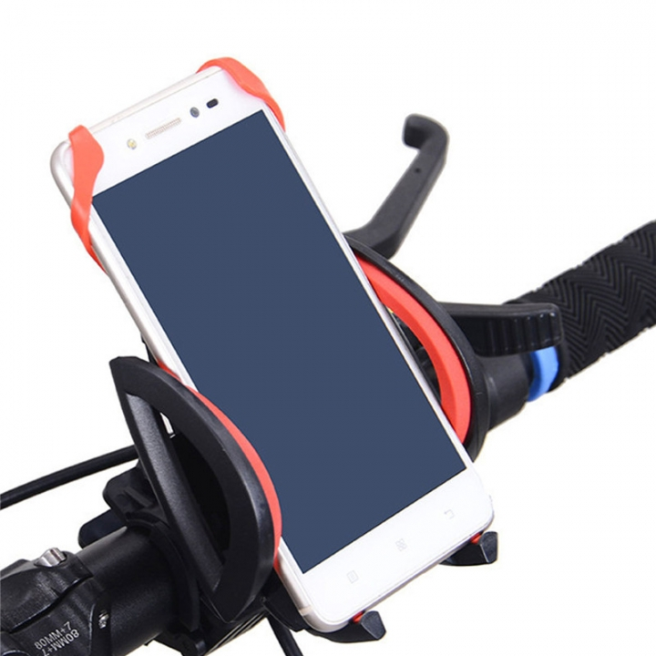 Universal Bicycle Phone Holder Handlebar Mount Stand Holder For Mobile Phone red normal