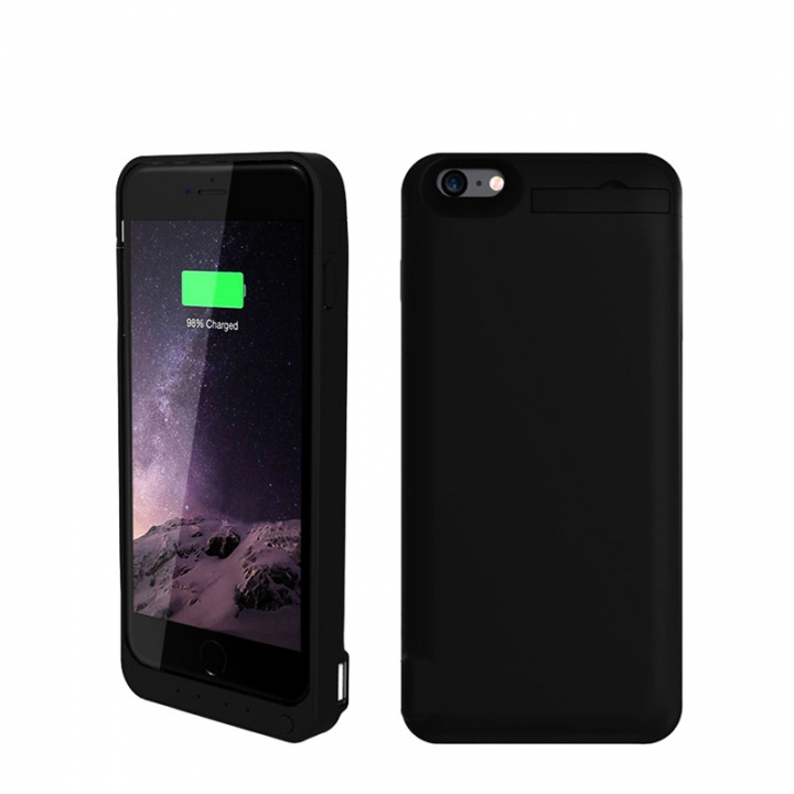 8200mAh Mobile Phone Back Clip Battery Charging Power Bank For iPhone 6 Plus/6s Plus black for iphone