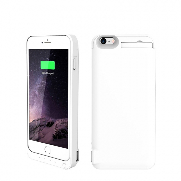 8200mAh Mobile Phone Back Clip Battery Charging Power Bank For iPhone 6 Plus/6s Plus white for iphone
