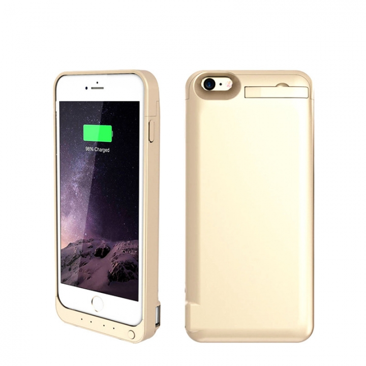 8200mAh Mobile Phone Back Clip Battery Charging Power Bank For iPhone 6 Plus/6s Plus gold for iphone