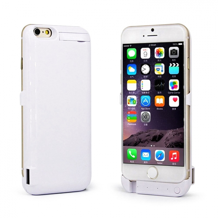 10000mAh Back Cover Clamp Battery For iPhone 6 Plus/ 6s Plus/ 7 Plus white iPhone 6Plus/6s Plus