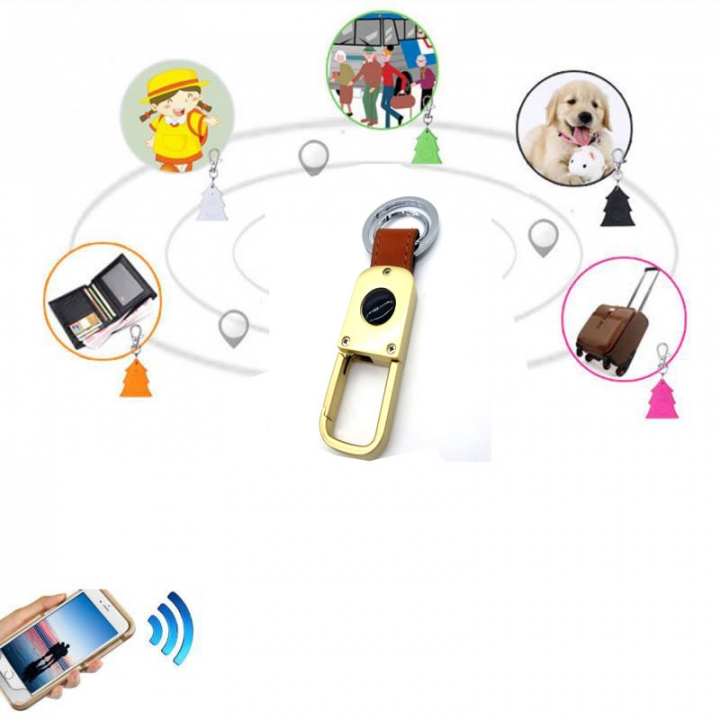 Smart Bluetooth Multilingual Kids Child Keychain GPS Tracker Locator Alarm Finder Monitor