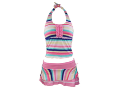 Ladies Swimming Costume Pink/blue Multicolor Small