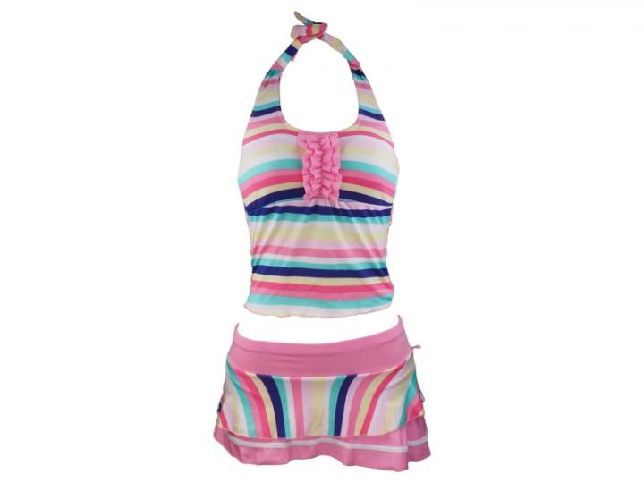 Ladies Swimming Costume Pinkblue Multicolor Small At Kilimall Kenya