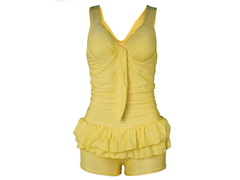 Ladies Swimming Costume Yellow Small
