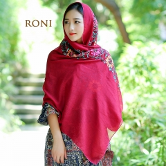 RONI Spring Lady Long Scarf National Style Embroidery Scarf 01 80*180cm