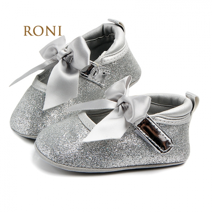 RONI  0-1-year-old baby princess shoes girl soft non-skid step shoes 01 11.5CM