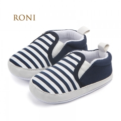 RONI Baby girl  navy striped fashion  walking shoes boy  non-skid breathable toddler shoes 01 11CM