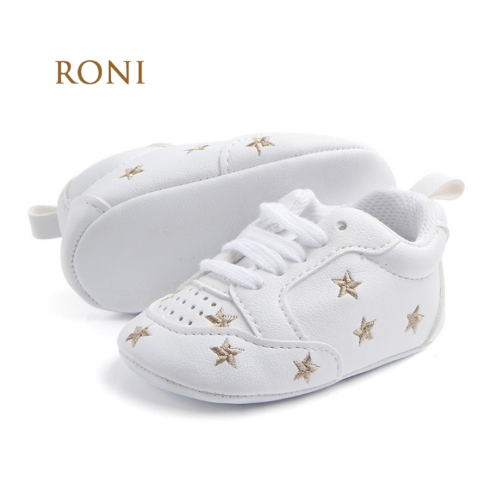 RONI Boy and girl  Red heart five-pointed star baby shoes, baby soft bottom shoes 04 11cm