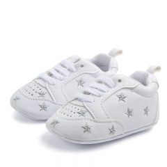 RONI Boy and girl  Red heart five-pointed star baby shoes, baby soft bottom shoes 05 11cm